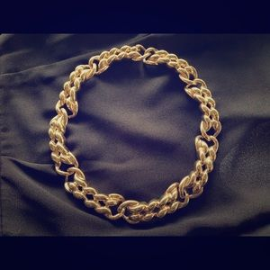Givenchy gold toned braided chain necklace